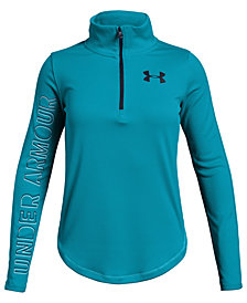 Under Armour Big Girls Tech 1/2-Zip Top