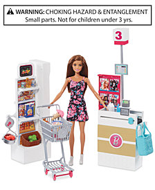 Mattel Barbie Doll & Supermarket Playset