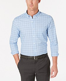 Men's Grid Pattern Performance Shirt, Created for Macy's
