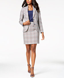 Anne Klein Plaid Blazer, Mixed-Media Shell & Pencil Skirt, Created for Macy's
