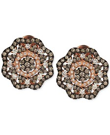 Red Carpet® Diamond Flower Stud Earrings (1-5/8 ct. t.w.) in 14k Rose Gold