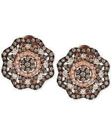 Le Vian Red Carpet® Diamond Flower Stud Earrings (1-5/8 ct. t.w.) in 14k Rose Gold