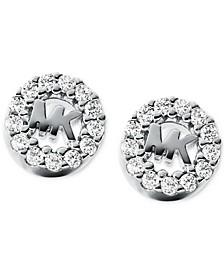 Women's Sterling Silver Logo Studs