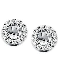 Michael Kors Women's Sterling Silver Logo Studs