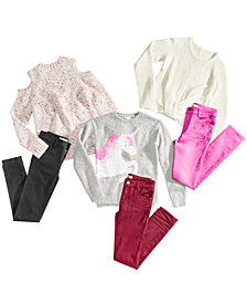 Epic Threads Big Girls Girls Denim Sweaters & Jeans Separates, Created for Macy's