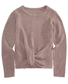 Epic Threads Big Girls Wrap-Front Sweater, Created for Macy's