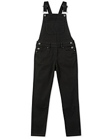 Calvin Klein Big Girls Skinny Denim Overalls