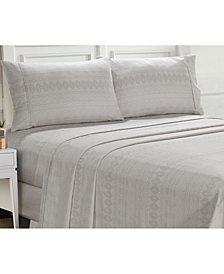 Ellen Tracy Microfiber Queen Solid and Print Sheet Set