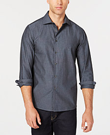 Tallia Men's Slim-Fit Slate Micro Print Dress Shirt