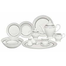 Verona 57-Pc. Dinnerware Set, Service for 8