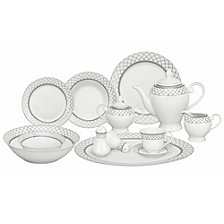 Lorren Home Trends Verona 57-Pc. Dinnerware Set, Service for 8