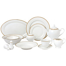 Lorren Home Trends Georgette 57-Pc. Dinnerware Set, Service for 8