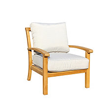 Courtyard Casual Teak Heritage Outdoor Teak Lounge Chair