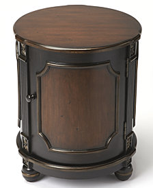 Cafe Noir Drum Table, Quick Ship