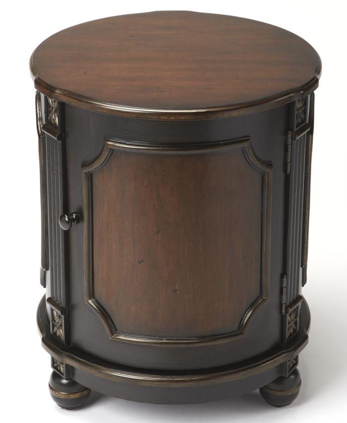 Butler Cafe Noir Drum Table & Reviews - Furniture - Macy's