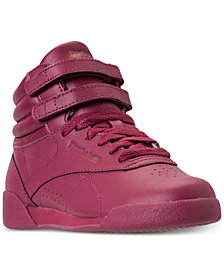 Reebok Little Girls' Freestyle High Top Casual Sneakers from Finish Line