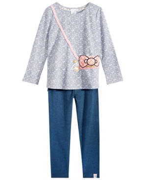 Hello Kitty Little Girls 2Pc Printed Purse Top  Leggings Set