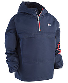 Tommy Hilfiger Little Boys Frasier Pullover Hooded Windbreaker Jacket
