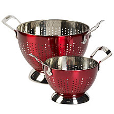 Epicurious Stainless Steel Set of 2 Colanders
