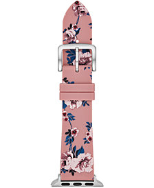 kate spade new york Women's Pink Floral Silicone Apple Watch® Strap