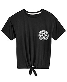 DKNY Big Girls Tie-Front Sporty T-Shirt