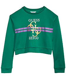 GUESS Big Girls Cropped Fleece Sweatshirt