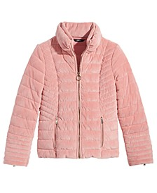 Big Girls Teoma Quilted Velvet Jacket