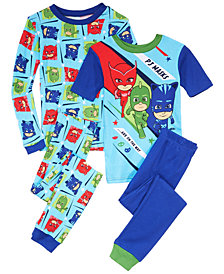 PJ Masks Big Boys 4-Pc. PJ Masks Cotton Pajamas Set
