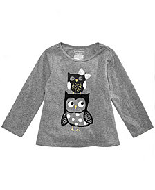 First Impressions Toddler Girls Owl Graphic T-Shirt, Created for Macy's