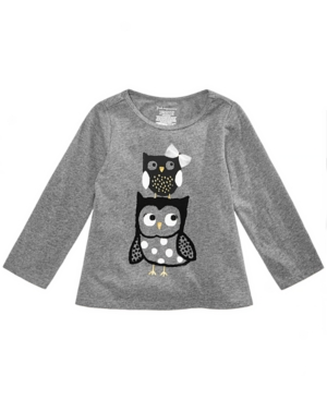 First Impressions Baby Girls Owls Graphic TShirt Created for Macys