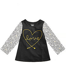 First Impressions Baby Girls Dotty Love Graphic Cotton Tunic, Created for Macy's
