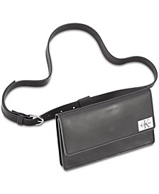 Calvin Klein Rubberized Leather Fanny Pack