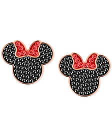 Tri-Tone Crystal Minnie Mouse Stud Earrings
