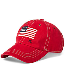 Polo Ralph Lauren Men's Flag Chino Cotton Baseball Cap