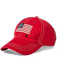 Polo Ralph Lauren Men's Flag Chino Cotton Baseball Cap