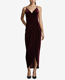 XSCAPE Velvet Tulip-Hem Dress
