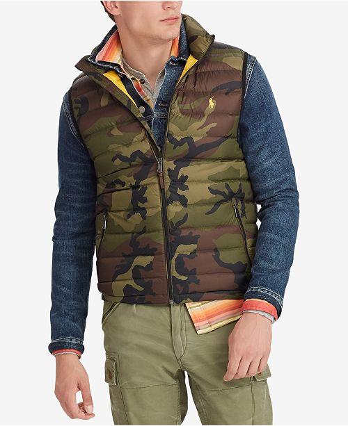 d89fa1507 Polo Ralph Lauren Men's Big & Tall Camo Packable Down Vest ...