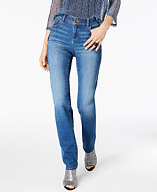 I.N.C. Petite Straight-Leg Jeans, Created for Macy's