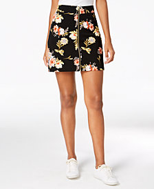 I.N.C Floral-Print Mini Skirt, Created for Macy's