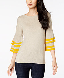 I.N.C. Tiered Bell-Sleeve Sweater, Created for Macy's