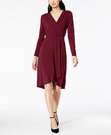 I.N.C. Faux-Wrap Dress, Created for Macy's