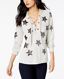 I.N.C. Embellished Star Hoodie, Created for Macy's