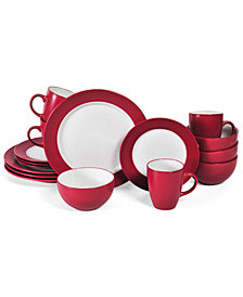 Pfaltzgraff 16-Pc. Harmony Red Dinnerware Set