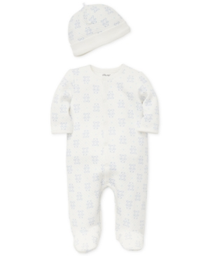 Little Me Baby Boys 2Pc Coverall  Hat Set