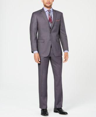 Perry Ellis Mens Tonal Plaid Suit Vest