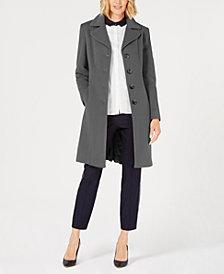 Anne Klein Single-Breasted Wool Coat