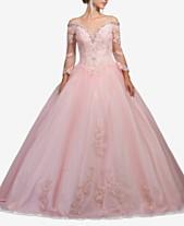 aeea3f6ee3e Dancing Queen Juniors  Rhinestone Cold-Shoulder Corset Gown