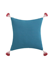 "Oceanfront Resort Coco Paradise Dip Dyed Tassel  16"" x 16"" Decorative Pillow"