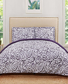 Truly Soft Watercolor Paisley Full/Queen Duvet Set