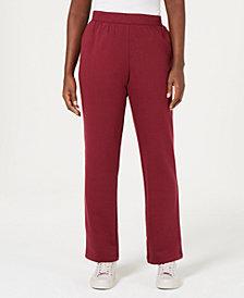 Karen Scott Flat Elastic-Waist Sweatpants, Created for Macy's